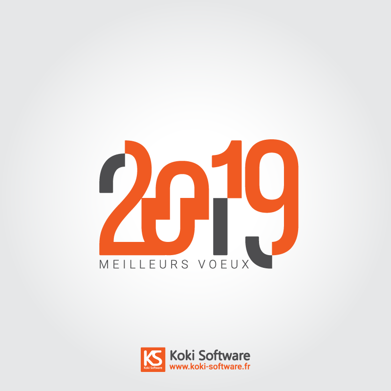 L'équipe Koki Software vous souhaite une bonne année 2019