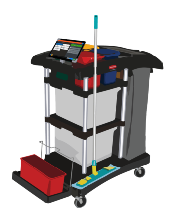 Chariot connecté Koki Software Solution traçabilité du nettoyage