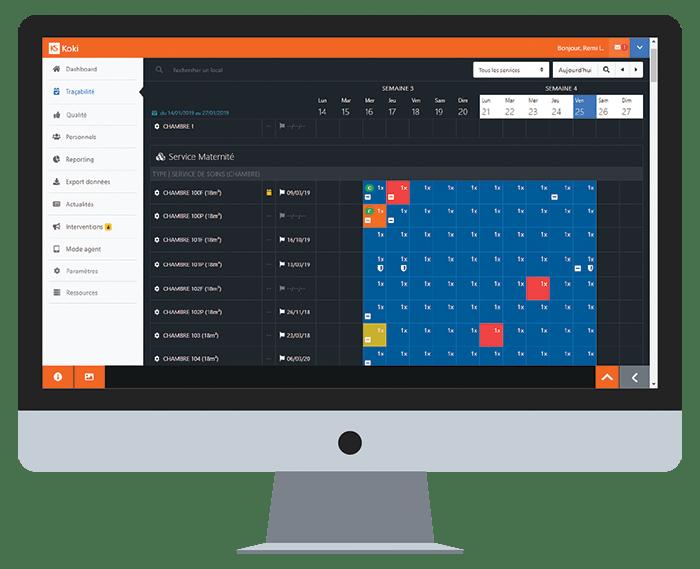 Koki Software logiciel traçabilité du nettoyage