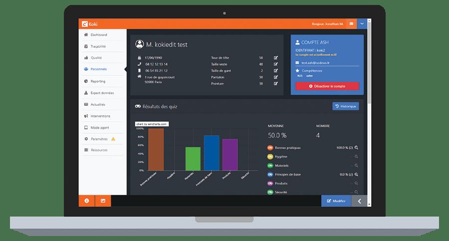 Koki Software solution traçabilité du nettoyage
